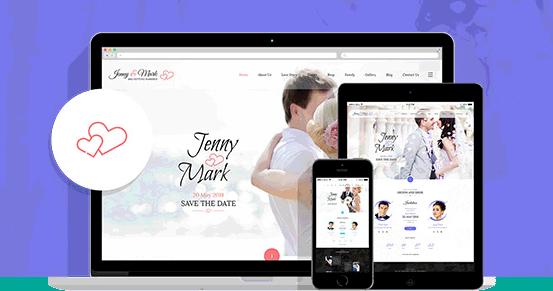 响应式Bootstrap婚礼策划网站模板