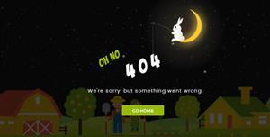 有创意的Html5昼夜变换动画404页面