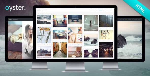 创意Masonry摄影图片网站HTML全屏模板画廊