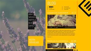 黄色创意组合CSS3网页模板个人主页Html