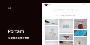 创意Bootstrap设计作品展示网站极简模板