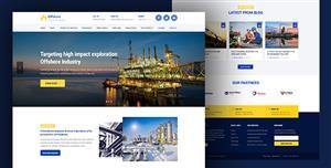 Bootstrap蓝色企业模板工厂门户Html5网站
