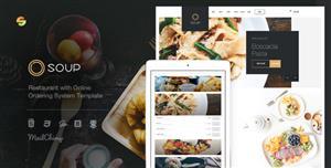 Bootstrap4餐厅网站模板下单点餐系统Html5模板