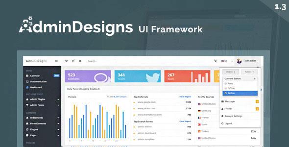 Bootstrap后臺UI界面管理模板框架源碼下載