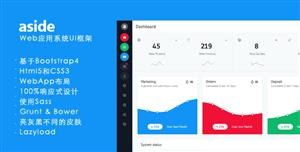 Bootstrap4框架Web应用管理系统模板UI界面