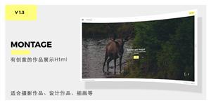 响应式Html5图片摄影作品画廊模板