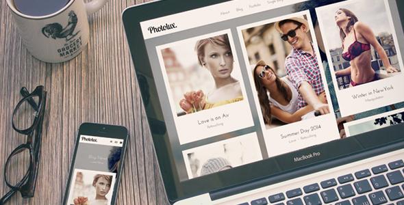 创意Bootstrap摄影网站响应式博客模板