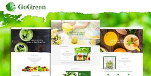 响应式绿色果蔬商城网站模板htmlGoGreen
