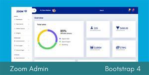 精美Bootstrap4后台Html模板管理系统框架