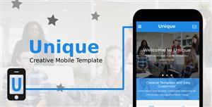 蓝色精美Html5手机网站模板响应式布局