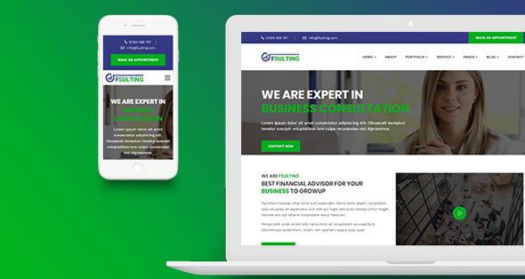 金融和咨询公司Bootstrap4模板