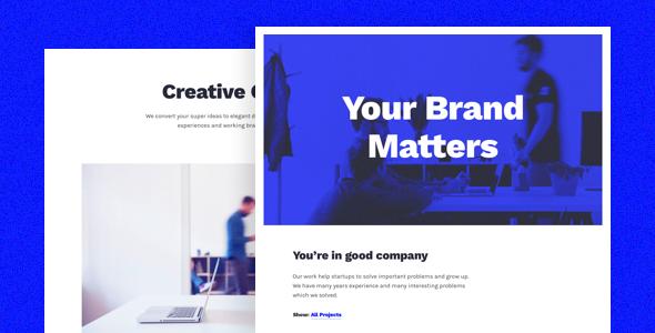 Bootstrap4创意设计作品集模板