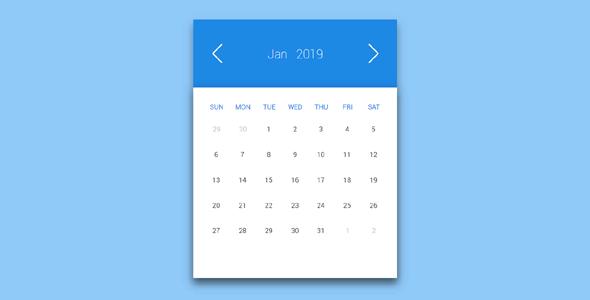 漂亮的CSS3日历插件代码