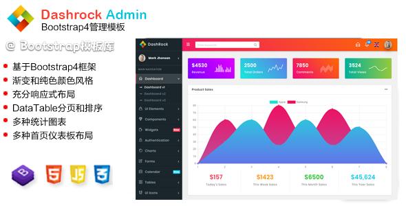 充分响应式Bootstrap管理仪表板模板