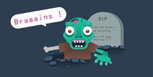 纯CSS3卡通僵尸动画效果