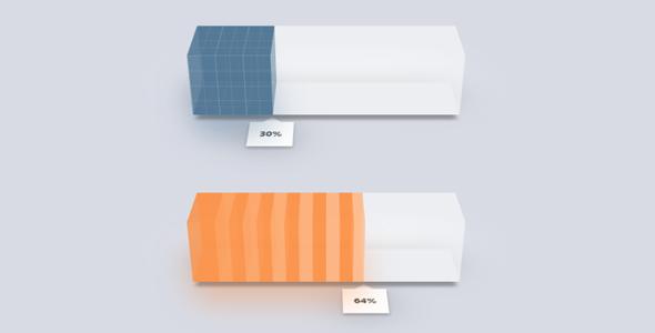 jQuery+CSS3代码3D进度条插件