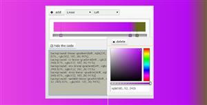 jQuery+CSS3背景颜色渐变生成器