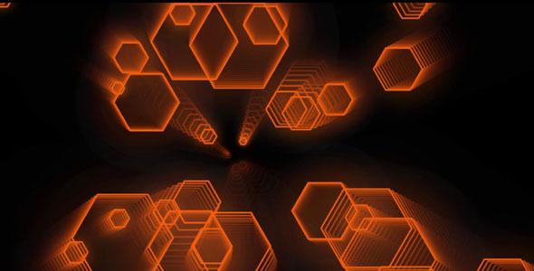 canvas实现科技感六角型