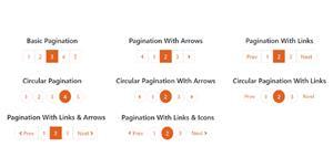 一组美化Bootstrap分页样式