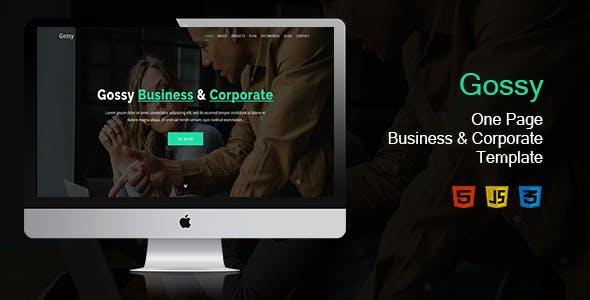 大气单页Bootstrap企业网站模板