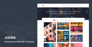 轻量级作品展示网站Bootstrap4主题