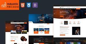 大型工业集团门户网站Bootstrap模板