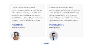 Bootstrap+Carousel.js客户评价插件