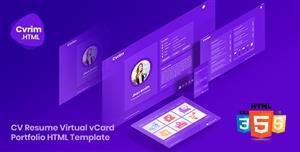 Bootstrap构造创意个人简历HTML5模板