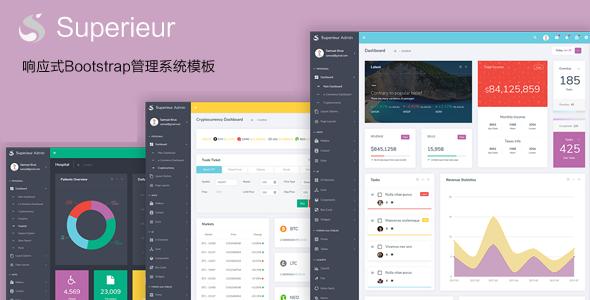 响应式Bootstrap4管理模板Web软件