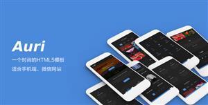 移动手机微信网站HTML5模板底部导航