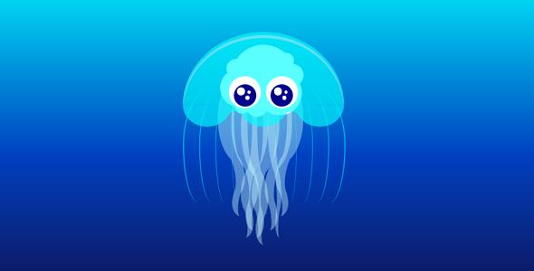 纯css3可爱水母游动代码