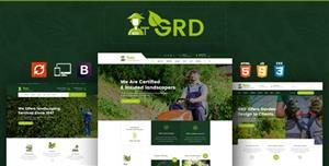 Bootstrap园林草坪设计HTML模板