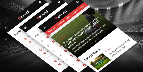 手机端足球运动网站HTML5模板源码下载