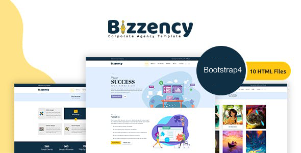 Bootstrap4创意工作室HTML模板