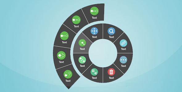 js环形扇形菜单插件circular-menu.js