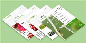 农业科技公司手机微官网HTML模板