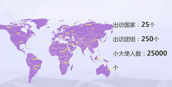echarts.js百度地图出访国家统计图