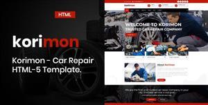 红色Bootstrap汽车修理HTML模板