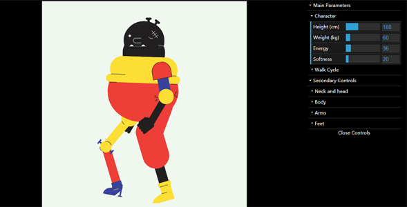 lottie.js动画插件自定义机器人行走