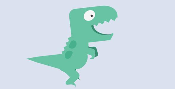 纯css3行走的恐龙代码