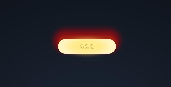 纯css3按钮火焰特效代码