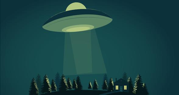 svg飞船ufo飞来动画