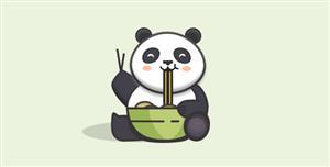 TweenMax.js大熊猫吃面条动画