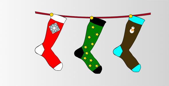 SVG晾晒袜子动画特效代码