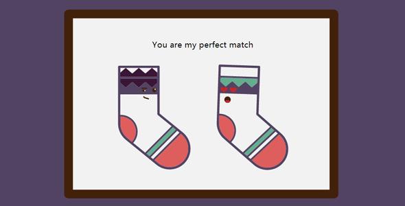 SVG+CSS3两只袜子的爱情动画