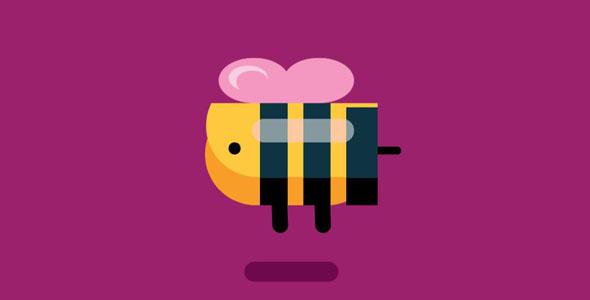 纯css3可爱蜜蜂飞动画