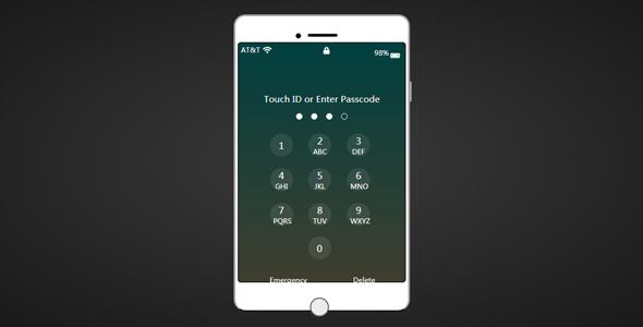 js苹果手机密码解锁特效
