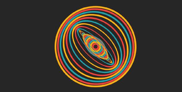 纯css3环形波纹动画特效