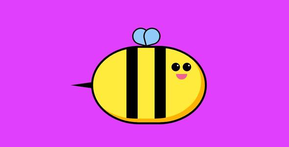 纯css3胖嘟嘟的小蜜蜂代码