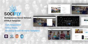 Bootstrap社交社区网站HTML5模板